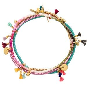 Shashi Lilu Bracelet Set in Pink Dream